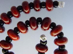 Detail Image for art BG Morrow LAMPWORK Handmade Glass Art 30 Beads D262 SRA