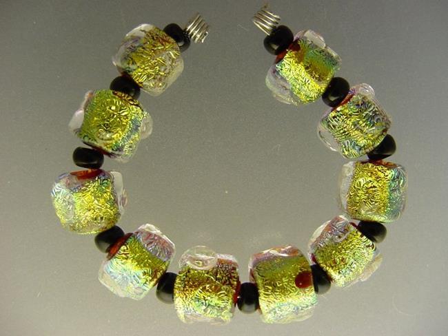 Art: BG Morrow LAMPWORK Handmade Glass Art 10 Beads D239 SRA   by Artist Bonnie G Morrow