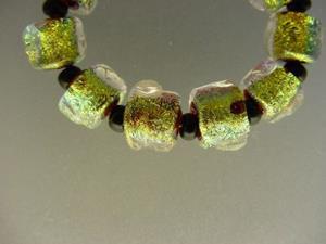 Detail Image for art BG Morrow LAMPWORK Handmade Glass Art 10 Beads D239 SRA