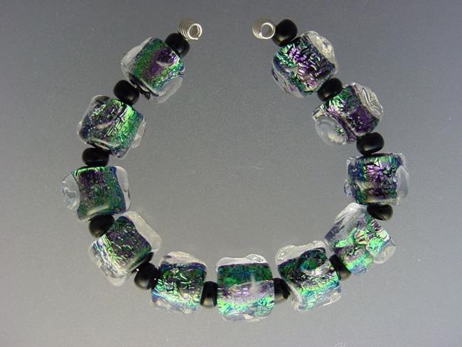 Art: BG Morrow LAMPWORK Handmade Glass Art 11 Beads D291 SRA by Artist Bonnie G Morrow