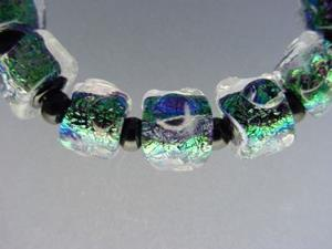 Detail Image for art BG Morrow LAMPWORK Handmade Glass Art 11 Beads D291 SRA