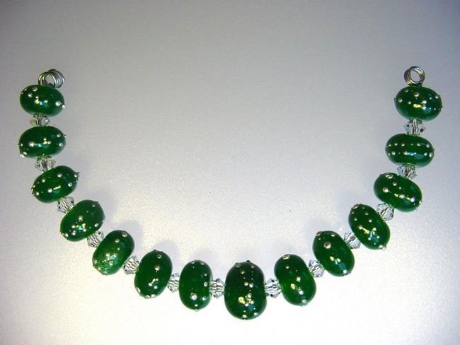 art bg morrow lampwork handmade 14 glass beads set b834 sra by artist bonnie g