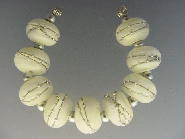 Art: BG Morrow LAMPWORK Handmade Glass Art 9 Beads D216 SRA   by Artist Bonnie G Morrow