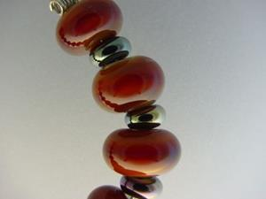 Detail Image for art BG Morrow LAMPWORK Handmade Glass Art 19 Beads D149 SRA