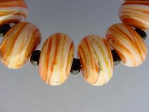 Detail Image for art BG Morrow LAMPWORK Handmade Glass Art 10 Beads D265 SRA