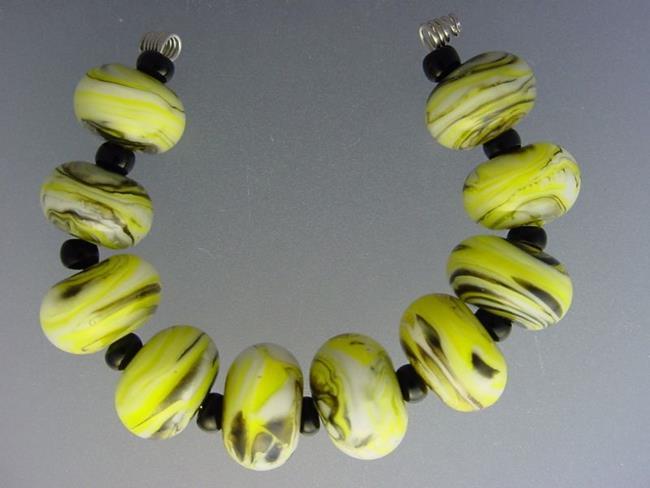 Art: BG Morrow LAMPWORK Handmade Glass Art 10 Beads D270 SRA   by Artist Bonnie G Morrow