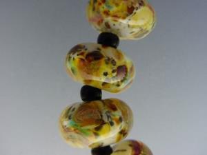 Detail Image for art BG Morrow LAMPWORK Handmade Glass Art 12 Beads D256 SRA
