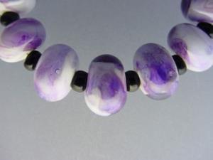 Detail Image for art BG Morrow LAMPWORK Handmade Glass Art 11 Beads D275 SRA
