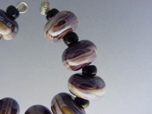 Detail Image for art BG Morrow LAMPWORK Handmade Glass Art 10 Beads D288 SRA