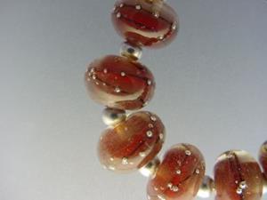 Detail Image for art BG Morrow LAMPWORK Handmade Glass Art 9 Beads D214 SRA