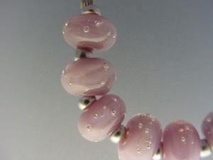 Detail Image for art BG Morrow LAMPWORK Handmade 12mm Glass 9 Beads D212 SRA