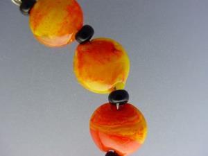 Detail Image for art BG Morrow LAMPWORK Handmade Glass Art 10 Beads D260 SRA