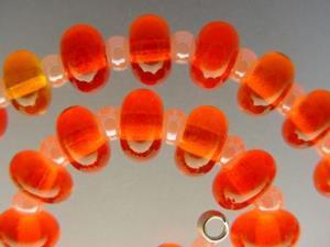 Detail Image for art BG Morrow LAMPWORK Handmade Glass Art 35 Beads D104 SRA