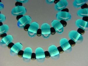 Detail Image for art BG Morrow LAMPWORK Handmade Glass Art 28 Beads D230 SRA