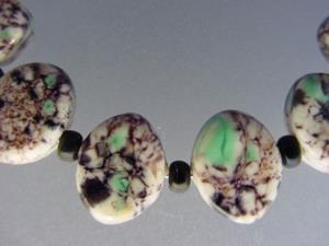 Detail Image for art BG Morrow LAMPWORK Handmade 14x11mm Glass 10 Beads D290 SRA