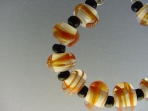 Detail Image for art BG Morrow LAMPWORK Handmade Glass Art 10 Beads D234 SRA