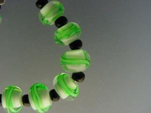 Detail Image for art BG Morrow LAMPWORK Handmade Glass Art 10 Beads D232 SRA