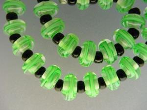 Detail Image for art BG Morrow LAMPWORK Handmade Glass Art 30 Beads D231 SRA