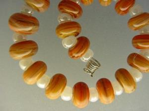 Detail Image for art BG Morrow LAMPWORK Handmade Glass Art 30 Beads D115 SRA