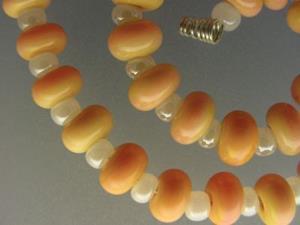 Detail Image for art BG Morrow LAMPWORK Handmade Glass Art 30 Beads D101 SRA