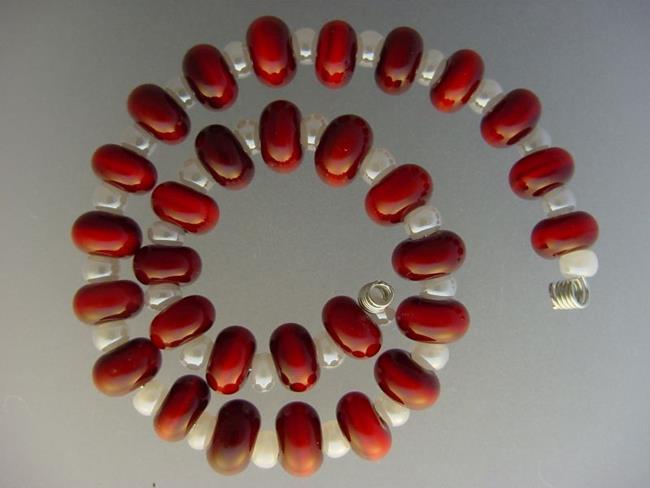 Art: BG Morrow LAMPWORK Handmade Glass Art 30 Beads D155 SRA   by Artist Bonnie G Morrow
