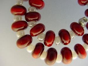 Detail Image for art BG Morrow LAMPWORK Handmade Glass Art 30 Beads D155 SRA