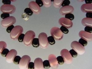 Detail Image for art BG Morrow LAMPWORK Handmade Glass Art 30 Beads D211 SRA