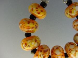 Detail Image for art BG Morrow LAMPWORK Handmade Glass Art 9 Beads D219 SRA