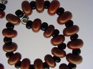 Detail Image for art BG Morrow LAMPWORK Handmade Glass Art 30 Beads D293 SRA