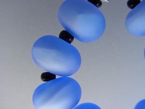 Detail Image for art BG Morrow LAMPWORK Handmade Glass Art 9 Beads D281 SRA