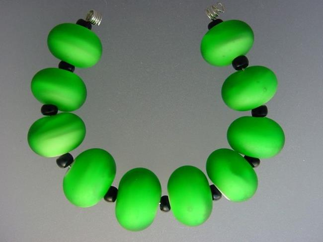 Art: BG Morrow LAMPWORK Handmade Glass Art 10 Beads D280 SRA  by Artist Bonnie G Morrow