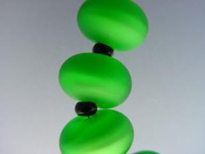 Detail Image for art BG Morrow LAMPWORK Handmade Glass Art 10 Beads D280 SRA