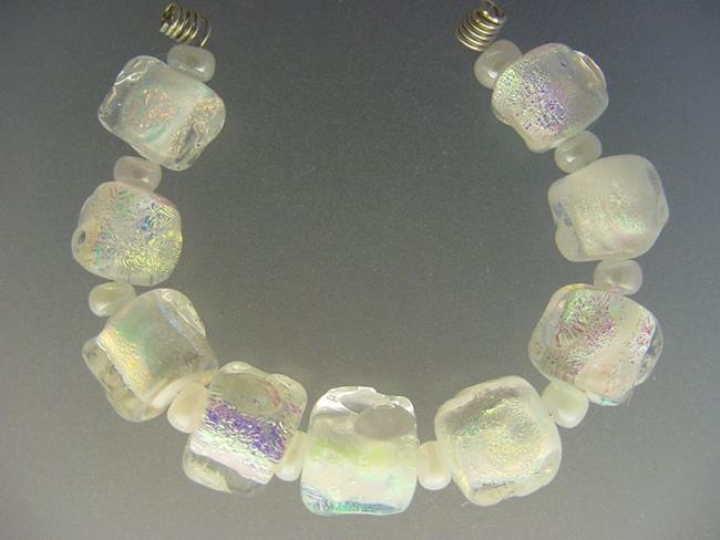 Art: BG Morrow LAMPWORK Handmade Glass Art 9 Beads D93 SRA by Artist Bonnie G Morrow