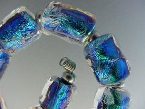 Detail Image for art BG Morrow LAMPWORK Handmade Glass Art 10 Beads D157 SRA