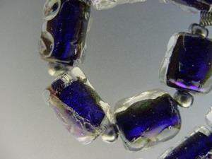Detail Image for art BG Morrow LAMPWORK Handmade Glass Art 10 Beads D161 SRA