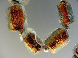 Detail Image for art BG Morrow LAMPWORK Handmade Glass Art 10 Beads D162 SRA
