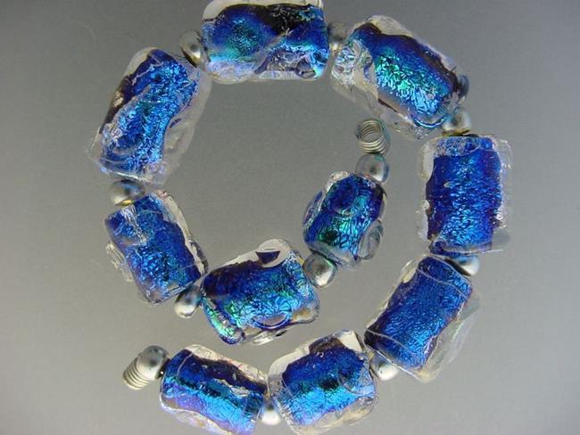 Art: BG Morrow LAMPWORK Handmade Glass Art 10 Beads D164 SRA   by Artist Bonnie G Morrow