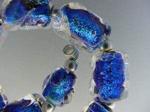 Detail Image for art BG Morrow LAMPWORK Handmade Glass Art 10 Beads D164 SRA