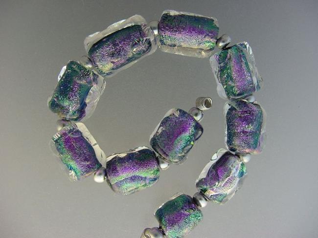Art: BG Morrow LAMPWORK Handmade Glass Art 10 Beads D165 SRA by Artist Bonnie G Morrow