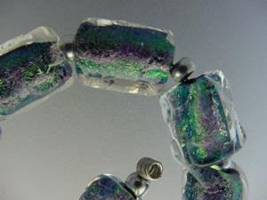 Detail Image for art BG Morrow LAMPWORK Handmade Glass Art 10 Beads D165 SRA