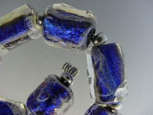 Detail Image for art BG Morrow LAMPWORK Handmade Glass Art 10 Beads D166 SRA