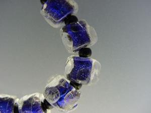 Detail Image for art BG Morrow LAMPWORK Handmade Glass Art 10 Beads D220 SRA
