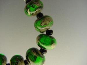 Detail Image for art BG Morrow LAMPWORK Handmade Glass Art 10 Beads D242 SRA