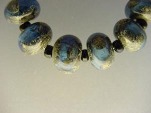 Detail Image for art BG Morrow LAMPWORK Handmade Glass Art 10 Beads D241 SRA