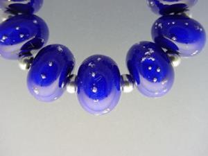 Detail Image for art BG Morrow LAMPWORK Handmade 13mm Glass 9 Beads D215 SRA