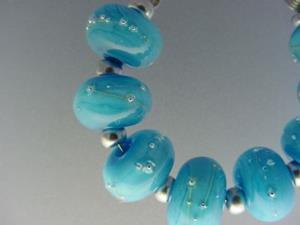 Detail Image for art BG Morrow LAMPWORK Handmade Glass Art 8 Beads D213 SRA