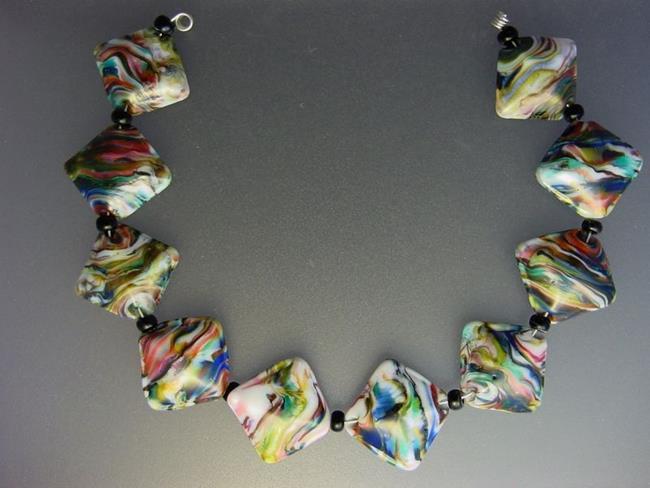 Art: BG Morrow LAMPWORK Handmade Glass Art 10 Beads D257 SRA   by Artist Bonnie G Morrow