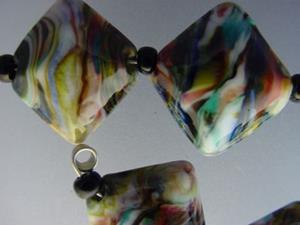 Detail Image for art BG Morrow LAMPWORK Handmade Glass Art 10 Beads D257 SRA