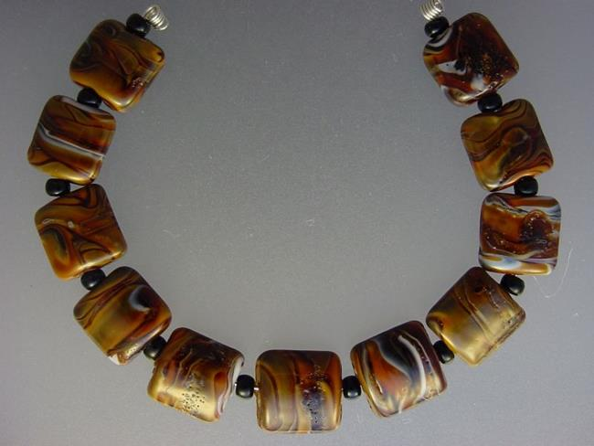 Art: BG Morrow LAMPWORK Handmade 13mm Glass 11 Beads D287 SRA   by Artist Bonnie G Morrow
