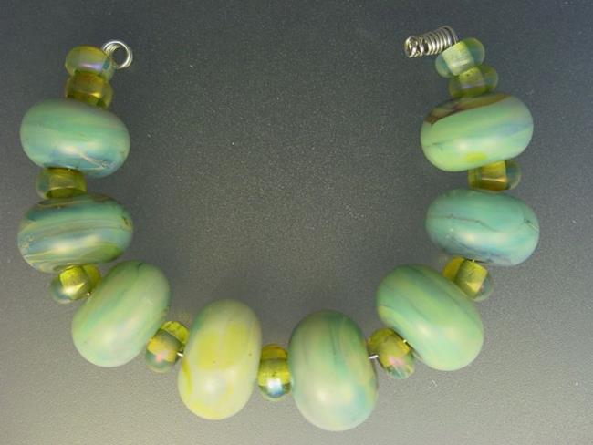 Art: BG Morrow LAMPWORK Handmade Glass Art 19 Beads D62 SRA   by Artist Bonnie G Morrow